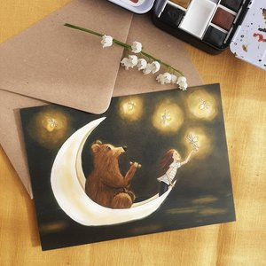 Fire Flies - Postcard with envelope