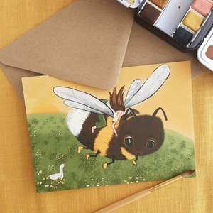 Bumblebee flight - Postcard with envelope