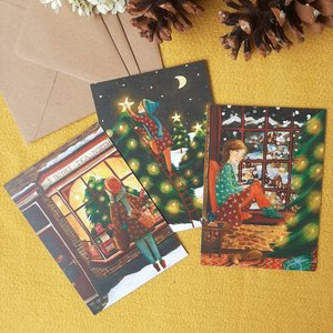 Christmas card set - Cozy christmas (with envelopes)