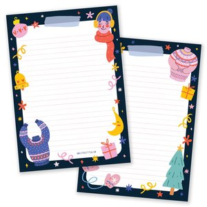 A5 Christmas Sweater Notepad - Double Sided