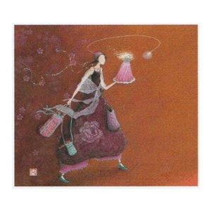Postcard Gaëlle Boissonnard - FEMME GÂTEAU ET CADEAU
