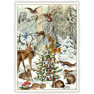Postcard Edition Tausendschoen Christmas - Winter Forest