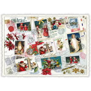 Postcard Edition Tausendschoen Christmas - Santa Collage