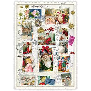 Postcard Edition Tausendschoen Christmas - Santa Collage