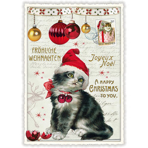 Postcard Edition Tausendschoen Christmas - Christmas Cat
