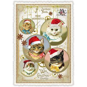 Postcard Edition Tausendschoen Christmas - Christmas Cats