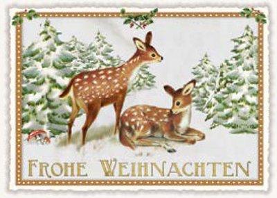 Postcard Edition Tausendschoen Christmas - Frohe Weihnachten Deer