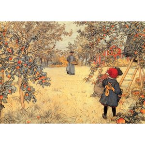 Postcard | Carl Larsson - Gathering Apples