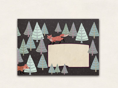 10 x Envelope TikiOno | Winter Fox