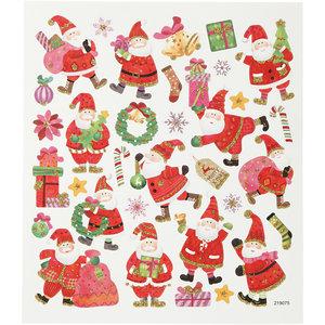 Seal Sticker with Glitter Foil   Happy Santa Claus