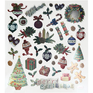 Seal Sticker with Metallic Foil | Antique Christmas