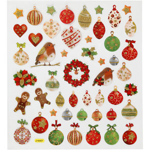 Seal Sticker with Gold Glitter | Christmas Ornaments