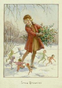 Postcard Margareth W. Tarrant | Snow Brownies