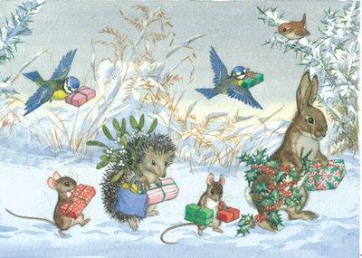 Postcard Molly Brett | Christmas Is Coming