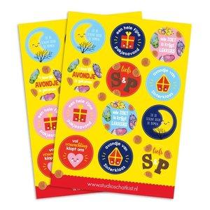 A5 Round Stickersheet | Sinterklaas