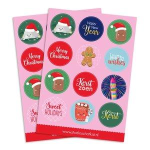 A5 Round Stickersheet   Kerst