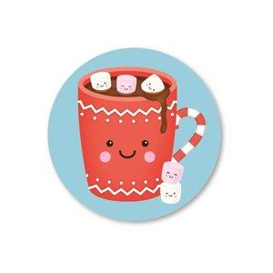 5 Stickers | warme chocolademelk met marshmallows