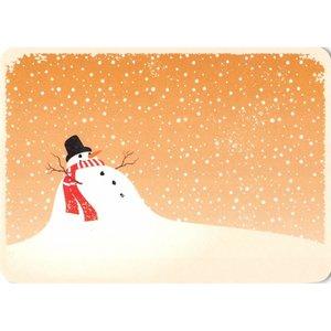 Postcard Gutrath Verlag | Snowman in the snow
