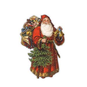 Shaped Postcard Edition Tausendschoen Specials | Santa WITH ENVELOPE
