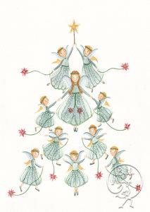 Postcard | Christmas angels