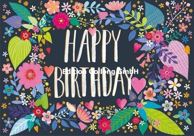 Mila Marquis Double Card | Happy Birthday (Flowers)