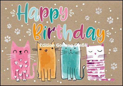 Shutterstock Double Card | Happy Birthday (Cats)