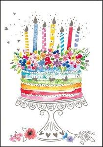 Carola Pabst Double Card | Birthday cake