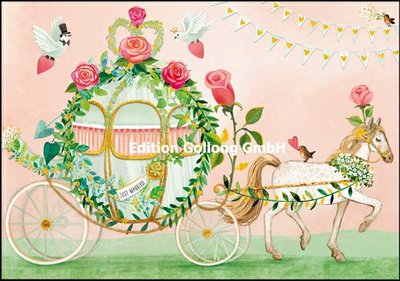 Mila Marquis Double Card   Wedding carriage