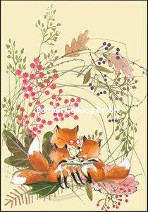 Tatjana Mai-Wyss Double Card   Fox family