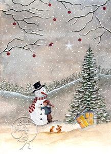 Postcard | Snowman
