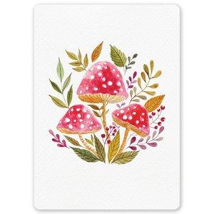 Postcard LittleLeftyLou | Autumn - Mushrooms