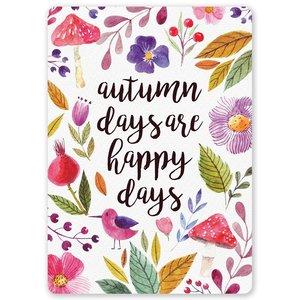 Postcard LittleLeftyLou | Autumn Days Are Happy Day