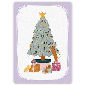 Postcard LittleLeftyLou | Christmas Tree Cat