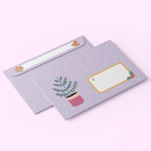 10 x C6 Envelopes Christmas - Little Lefty Lou