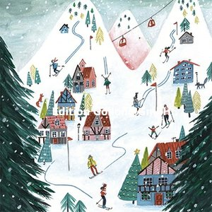 Cartita Design Postcard Christmas | Skiing