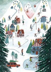 Cartita Design Postcard | Skiing