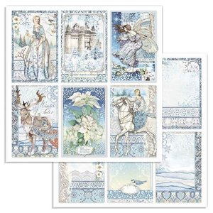 Paper Sheet Stamperia - 30,5 x 30,5 - Rounds - Winter Tales Cards