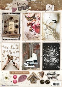 Easy 3D A4 Die Cut Sheet Winter Days nr.638