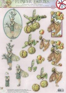Easy 3D A4 Die Cut Sheet Flower Fairies