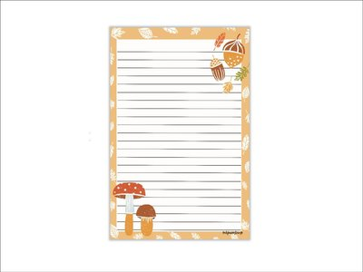 A5 Autumn Notepad - Double Sided