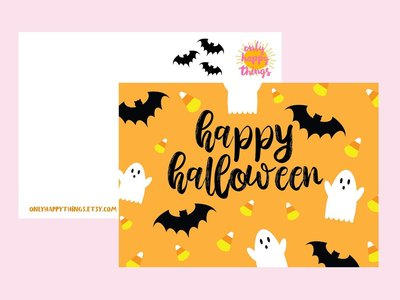 Postcard Only Happy Things   Happy Halloween