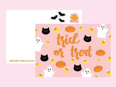 Postcard Only Happy Things | Trick or Treat