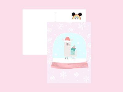 Postcard Only Happy Things | Llama Christmas