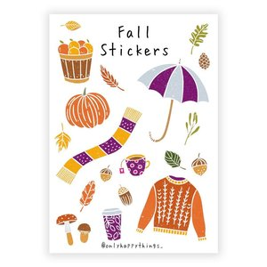 A5 Stickersheet Fall - Only Happy Things
