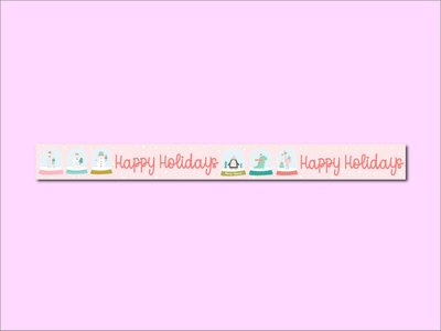 Washi Tape | HAPPY HOLIDAYS - Only Happy Things