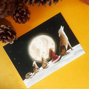 Full Moon - single postcard with envelope