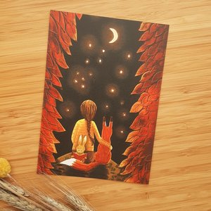 Looking at the Stars - Postcard with envelope by Esther Bennink