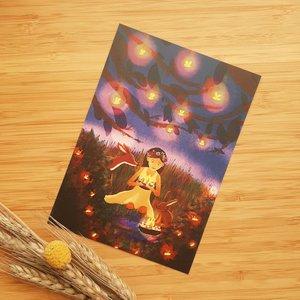 Midsummer night - Postcard with envelope by Esther Bennink