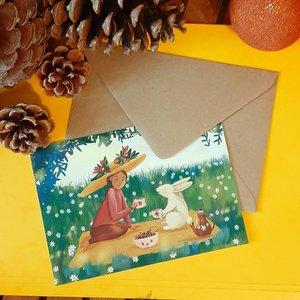 Picnic - Postcard with envelope by Esther Bennink