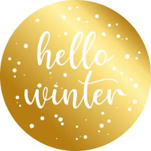 5 Stickers | Hello Winter (Gold Foil)